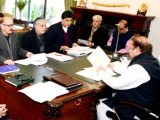 Nawaz Sharif chairing a meeting on implementation of the National Action Plan. PHOTO: PID