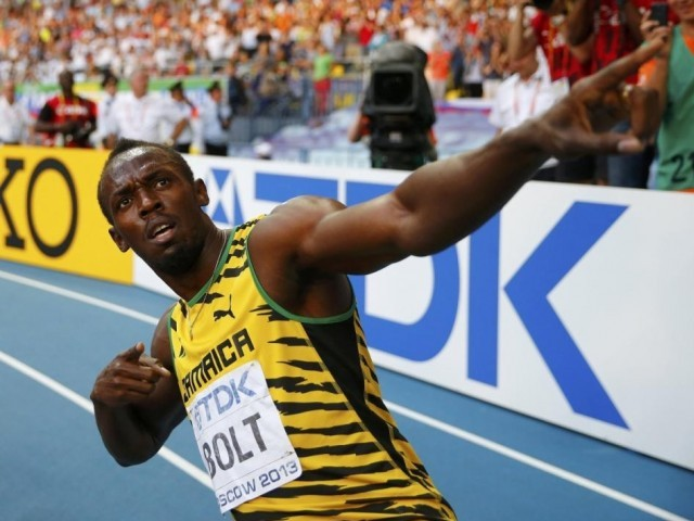 The Jamaican world record holder missed most of 2014 with injury and American rival Justin Gatlin went unbeaten in the sprints. PHOTO: REUTERS