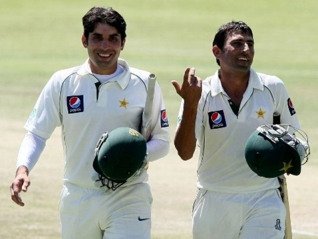 Crisis, what crisis? Misbah and Younus return to the fold looking to instil confidence and calm into a young side shaken up by recent results. Photo: AFP