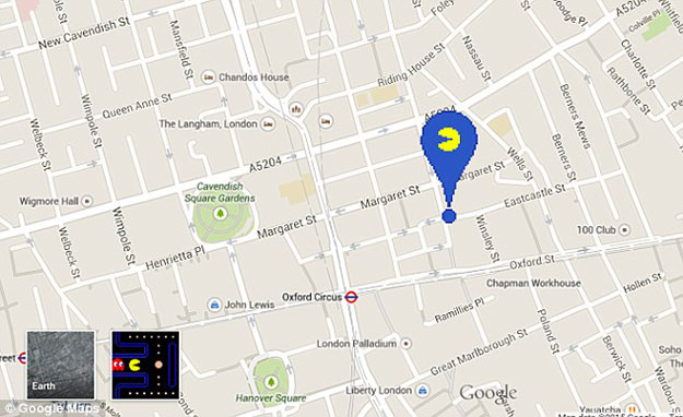 Google Maps transforms streets into giant Pac-Man game | The Express ...