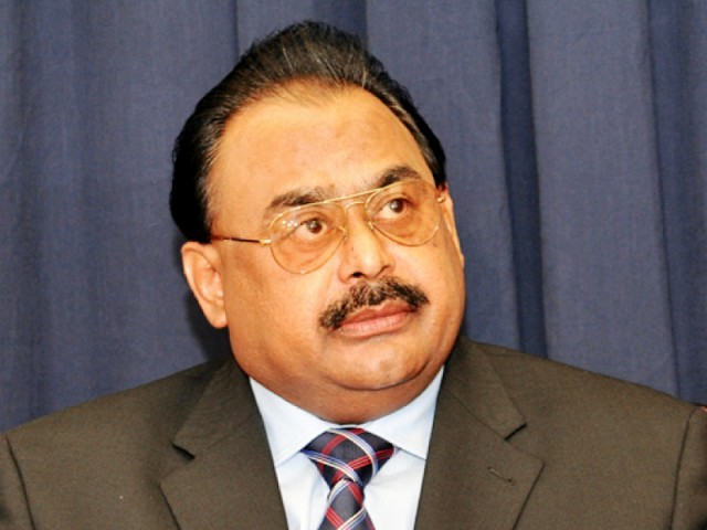 MQM leader Altaf Hussain. PHOTO: MQM