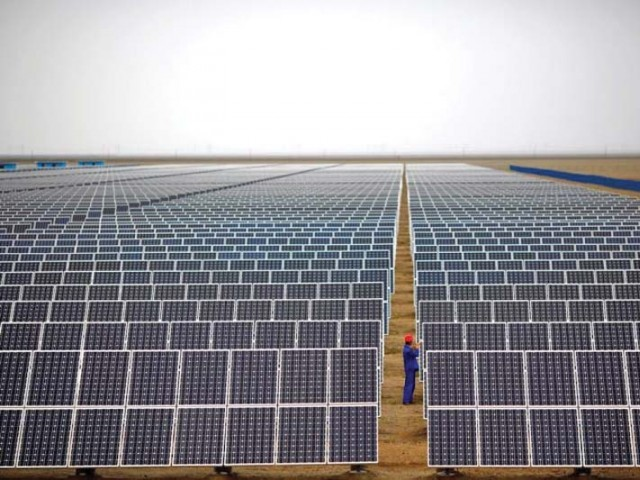 The Qauid-i-Azam Solar Park has been completed at a cost of $131 million in one year. PHOTO: REUTERS
