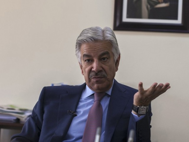 Defence Minister Khawaja Asif. PHOTO: REUTERS