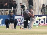 Wicket-keeper watches in anticipation as the batsman tries to hit off the ball away. PHOTO MALIK SHAFIQ/EXPRESS