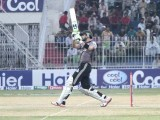 Stallions batsman hits in style to make the team's way to the final. PHOTO MALIK SHAFIQ/EXPRESS