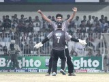 Stallions gather to cheer the moment as they reach their victory through the final. PHOTO MALIK SHAFIQ/EXPRESS