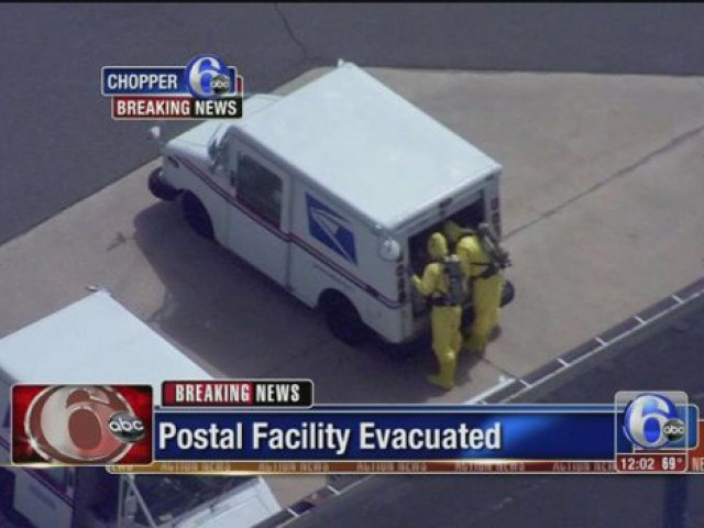 Multiple postal service employees were medically evaluated for possible exposure to the unexplained odor at the facility. PHOTO: REUTERS