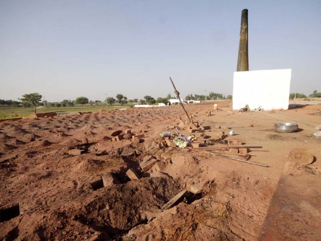 Site of the brick kiln where the Christian couple was burnt to death. PHOTO: SHAFIQ MALIK/EXPRESS