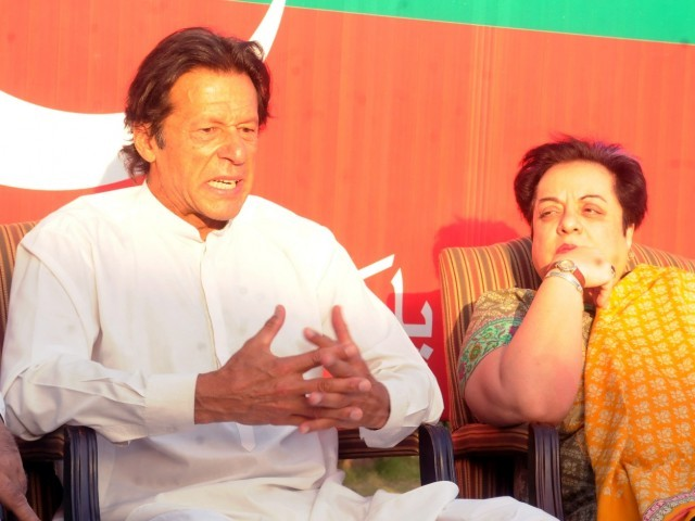 Image result for pics of shireen mazari and imran khan together