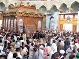 People throng the shrine of Lal Shahbaz Qalandar in Sehwan to pay their respects to the Sufi saint during his 763rd Urs. PHOTO: APP