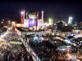 People throng the shrine of Lal Shahbaz Qalandar in Sehwan during the 763rd Urs. PHOTO: APP
