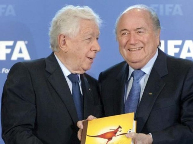 Frank Lowy has admitted that Australia's bid for the 2022 World Cup was doomed to fail right from the start. PHOTO: AFP
