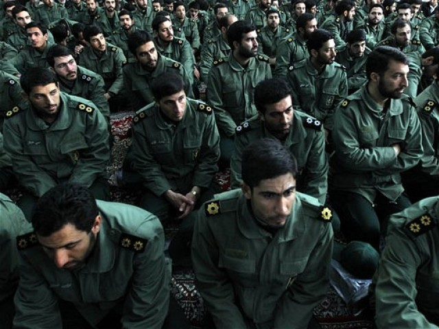 File photo of members of Iran's elite Revolutionary Guard. PHOTO: AFP