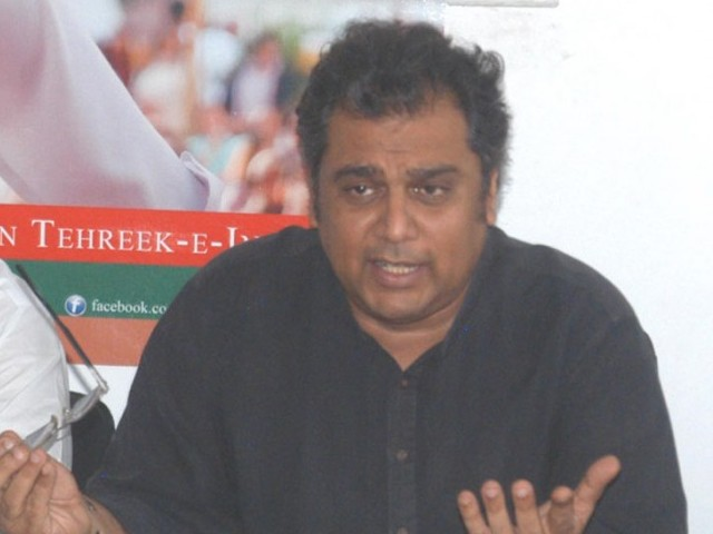 PTI leader Ali Zaidi addressing a press conference. PHOTO: NNI/FILE