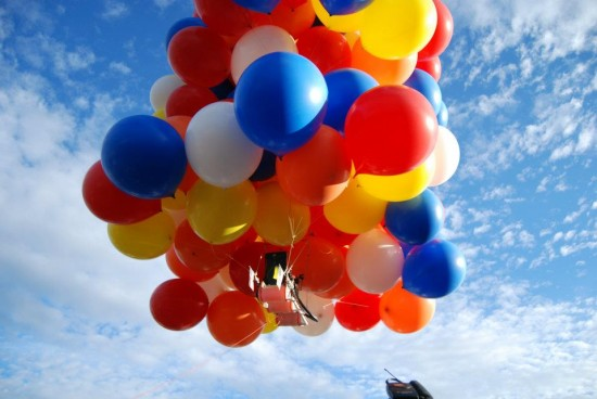 daniel booria of calgary was charged with mischief after he tied more than 100 helium filled balloons to a lawn chair photo themarysue