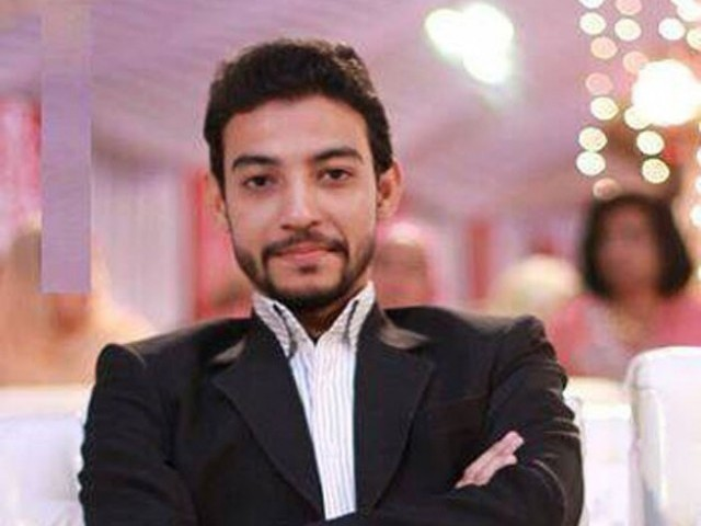 MQM worker Syed Waqas Ali Shah. PHOTO: MQM