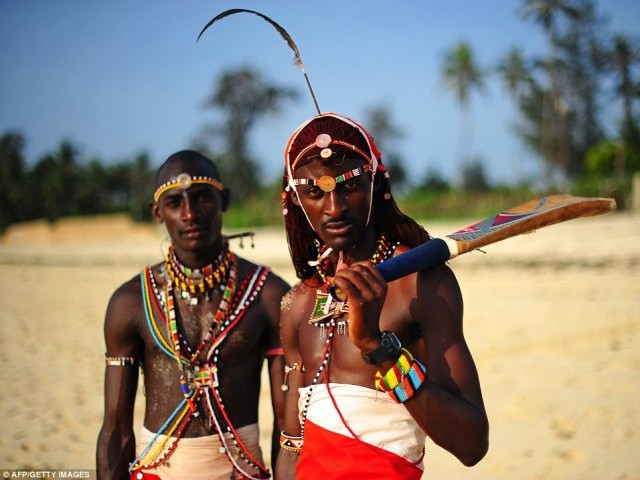 Kenyan Maasai warriors