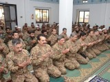Army Chief General Raheel Sharif offers Eid prayers in WANA, South Waziristan on July 18, 2015. PHOTO: ISPR