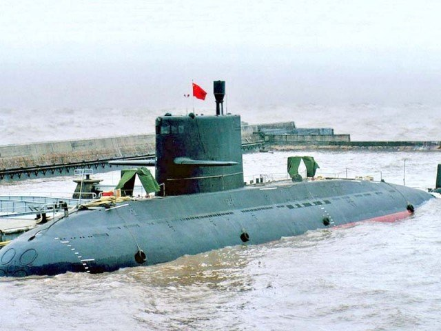 A Type 039A submarine in service with China's navy. The submarines Pakistan will be procuring from China are believed to be of the S20 type, a scaled down export version of the Type 039A. PHOTO: FILE