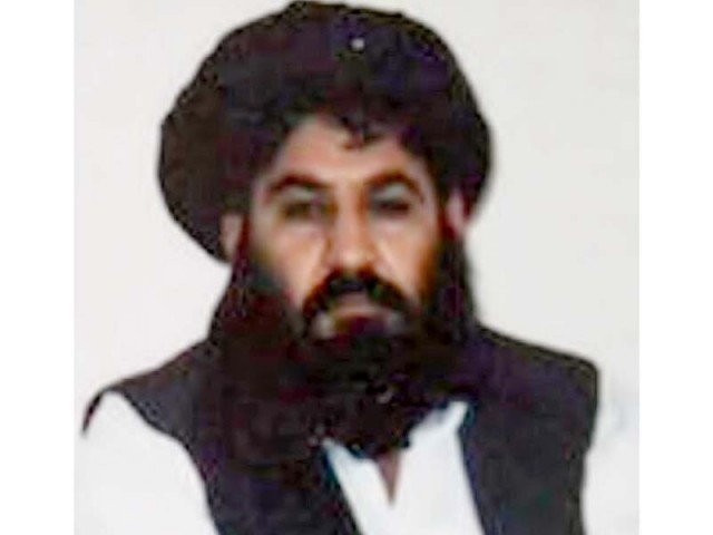 A file photo of Mullah Akhtar Mansoor.