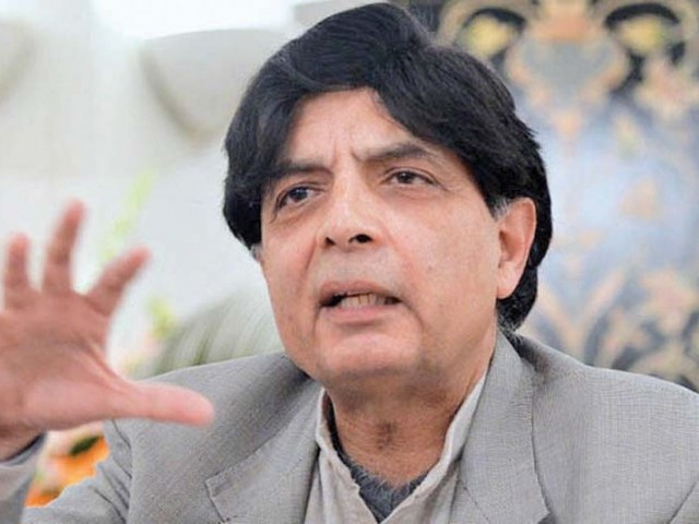 Chaudhry Nisar. PHOTO: FILE