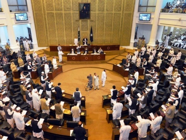 Khyber Pakhtunkhwa Assembly in session. PHOTO: AFP