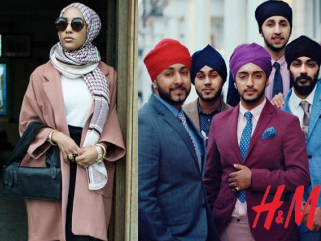 Fashion label features Muslim clad in a hijab and Sikhs in turbans for upcoming fall collection. PHOTO: H&M/FACEBOOK