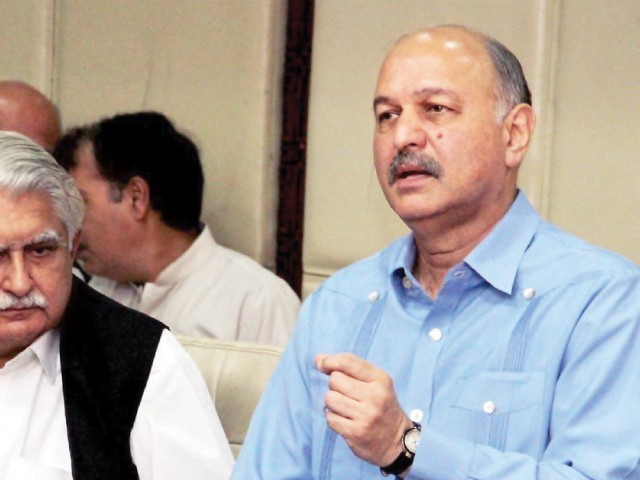 A file photo of Senator Mushahid Hussain Syed. PHOTO: ONLINE