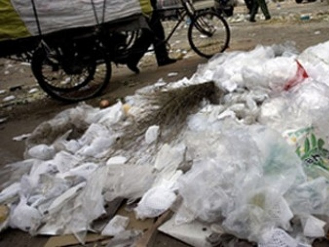 Regular plastic bags are not biodegradable. PHOTO: AFP