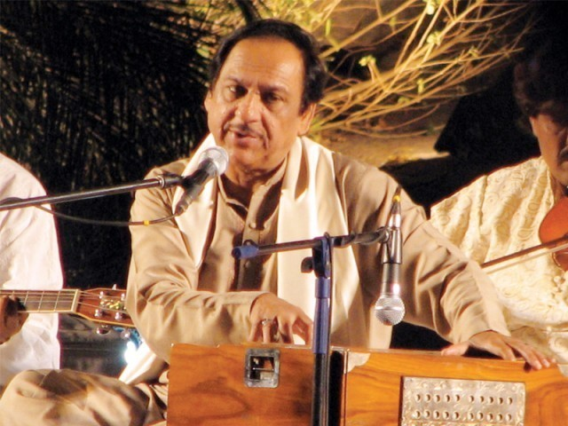 Ustad Ghulam Ali Khan's voice finally reaches his fans in India. PHOTO: FILE