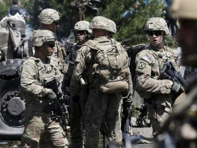 US troops in Kabul, Afghanistan. PHOTO: REUTERS