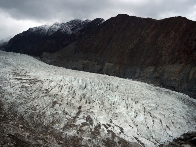 In this photograph taken on September 28, 2015, a general view of Passu glacier is seen in Pakistan's Gojal Valley. PHOTO: AFP