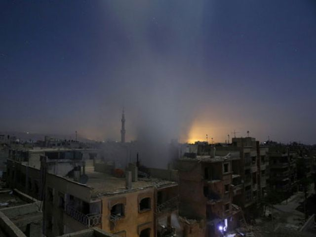 A file photo of aftermath of airstrikes in Syria. PHOTO: AFP