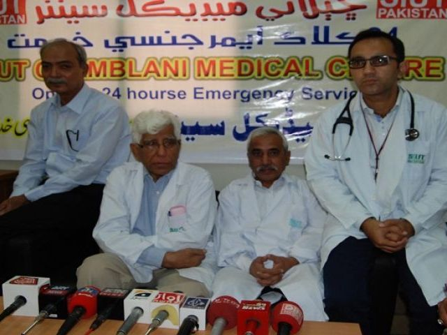 Dr Adibul Hassan Rizvi addressing a press conference. PHOTO: EXPRESS