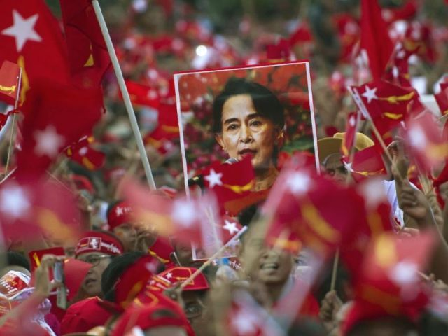 Power beckons for Aung San Suu Kyi's pro-democracy movement as it continues to grab parliamentary seats previously held by the ruling party in army-dominated Myanmar. PHOTO: AFP