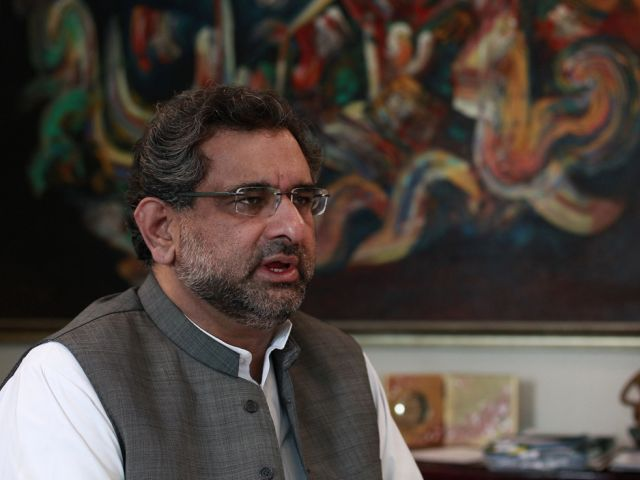 Federal Minister for Petroleum and Natural Resources Shahid Khaqan Abbasi. PHOTO: REUTERS/FILE