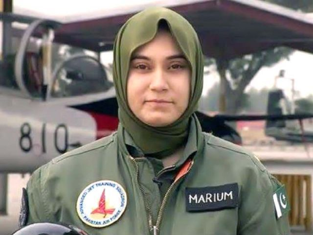 PAF Flying Officer Marium Mukhtiar. PHOTO: ONLINE