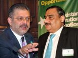 Dr Asim Hussain (R) and Sharjeel Inam Memon (L). PHOTO: FILE