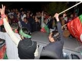 PTI takes lead in urban UCs; PML-N dominates rural areas. PHOTO: EXPRESS