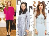 Amina, Amna Niazi and Hina Butt. Rehana Saigol exhibits her private collection of jewellery in Lahore. PHOTOS COURTESY BILAL MUKHTAR EVENTS & PR