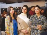Baleena, Guria and Raheela Khan. Tariq Naeem Chughtai launches Casa Rouge restaurant in Islamabad. PHOTOS COURTESY REZZ PR