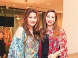 Gul Zeb and Safa. Gul Zeb of Carnival Fashion House organises an event in Dubai. PHOTOS COURTESY SAVVY PR