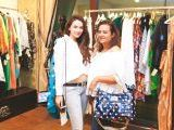 Henn Asad Khan and Beena Amer Khan. Gul Zeb of Carnival Fashion House organises an event in Dubai. PHOTOS COURTESY SAVVY PR