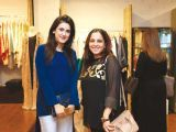 Huma and Sabeen. Gul Zeb of Carnival Fashion House organises an event in Dubai. PHOTOS COURTESY SAVVY PR