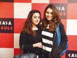 Maria Khan and Sarah Raza. Tariq Naeem Chughtai launches Casa Rouge restaurant in Islamabad. PHOTOS COURTESY REZZ PR