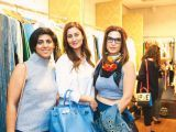Rabiya Nawaz, Shenila and Ayeshah Saleem. Gul Zeb of Carnival Fashion House organises an event in Dubai. PHOTOS COURTESY SAVVY PR