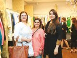 Romana and Zoya Khalid with a friend. Gul Zeb of Carnival Fashion House organises an event in Dubai. PHOTOS COURTESY SAVVY PR