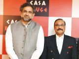 Shahid Khaqan Abbasi and Tariq Naeem Chughtai. Tariq Naeem Chughtai launches Casa Rouge restaurant in Islamabad. PHOTOS COURTESY REZZ PR