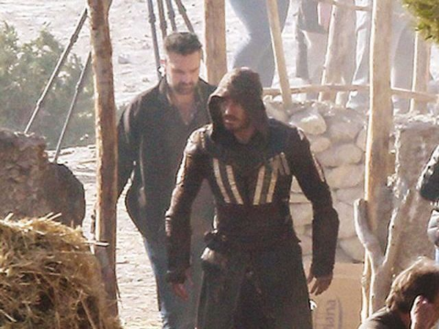 Fassbender dons Assassin attire of his character Callum Lynch in the adaption of the popular videogame series. PHOTO: FILE