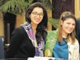 Alizay Saeed and Sahar Ahmed. Fayeeza Naqvi launches AmanLeaders in Karachi. PHOTOS COURTESY AMAN FOUNDATION